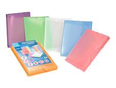 Viquel PROPYSOFT - Chemise à 3 rabats - personnalisable - A4 - couleurs assorties