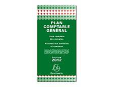 Exacompta - Plan comptable général - 40 feuilles - 90 x 175 mm - portrait