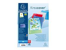 Exacompta KreaCover - farde de présentation personnalisable - 80 vues - A4