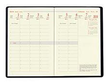 Oberthur Milano 13 - Organiseur - semainier - 80 x 130 mm - papier ivoire - couverture noire