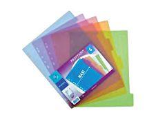 Viquel Propysoft - Intercalaire - 6 positions - A4 Maxi - couleurs assorties