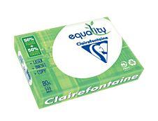CLAIREFONTAINE Equality - Papier blanc - A4 (210 x 297 mm) - 80 g/m² - 50% recyclé - 2500 feuilles (carton de 5 ramettes)
