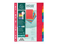 Exacompta Nature Future - Intercalaire - 12 positions - A4 - couleurs tachetées assorties