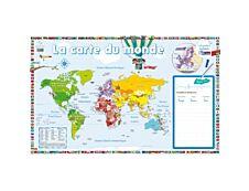Poster Ardoise la carte du monde