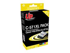 Canon CLI 571XL/570XL - remanufacturé UPrint C.570/571XL -  Pack de 5  - 2BK+C+M+Y - cartouche d'encre