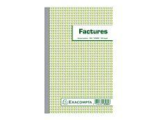 Exacompta - 10 Manifolds de factures - 210 x 135 mm - en double