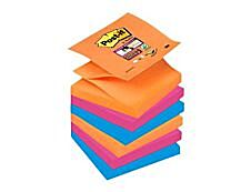 Post It - Pack de 6 Blocs - Z - Notes Super Sticky - 90 feuilles - 76 x 76 mm - Bangkok