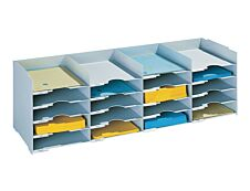 Bloc de classement 20 cases (A4) - PAPERFLOW - 89 x 7 cm - Gris