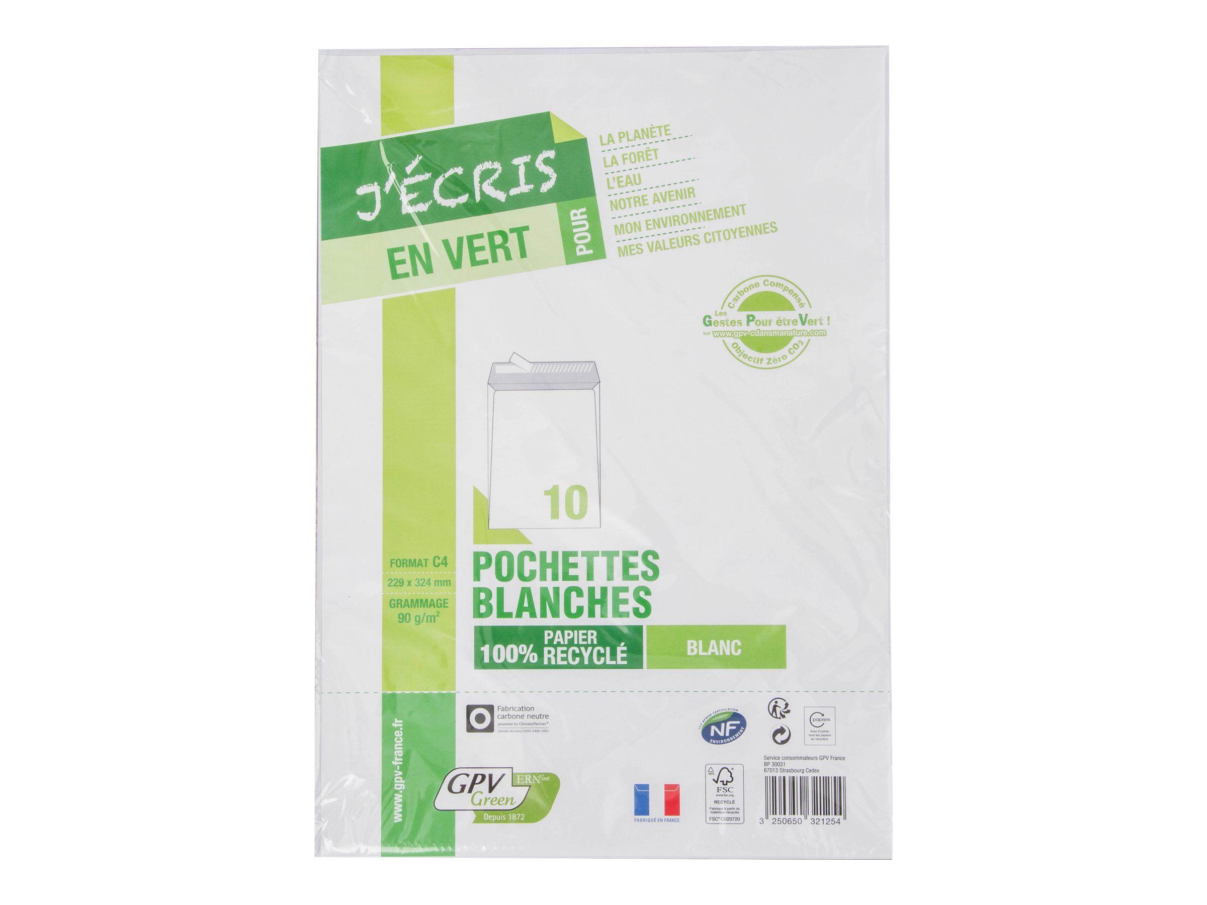 GPV GREEN ERA PURE - Enveloppe - pack de 10 - 229x324 - recyclé