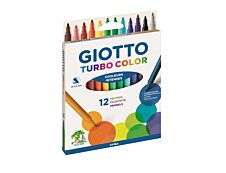 Giotto Turbo Color - 12 feutres Pointe moyenne