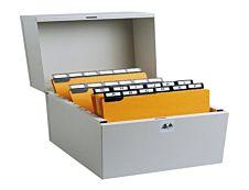 Exacompta Metalib - Boîte à fiches - 105 x 148 mm, 105 x 150 mm - pour 500 feuilles - paysage - dune