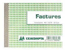 Exacompta - 10 Manifolds de factures - 105 x 135 mm - en double