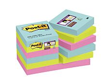 Notes Super Sticky Post-it Miami - 47,6 x 47,6 mm - 12 blocs