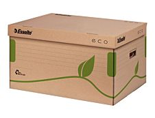 Esselte Eco - Container pour boîtes d'archive - marron nature - ouverture par le dessus