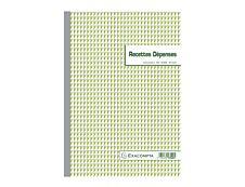 Exacompta - 5 Manifold de reçus - 50 feuilles - paysage - en double