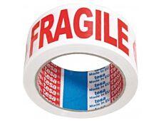 Tesa Ruban adhésif d'emballage -Fragile - 50mm x 66m