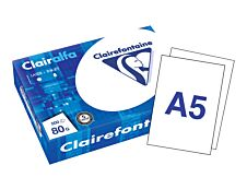 Clairefontaine - Papier ultra blanc - A5 (148 x 210 mm) - 80 g/m² -  500 feuille(s)