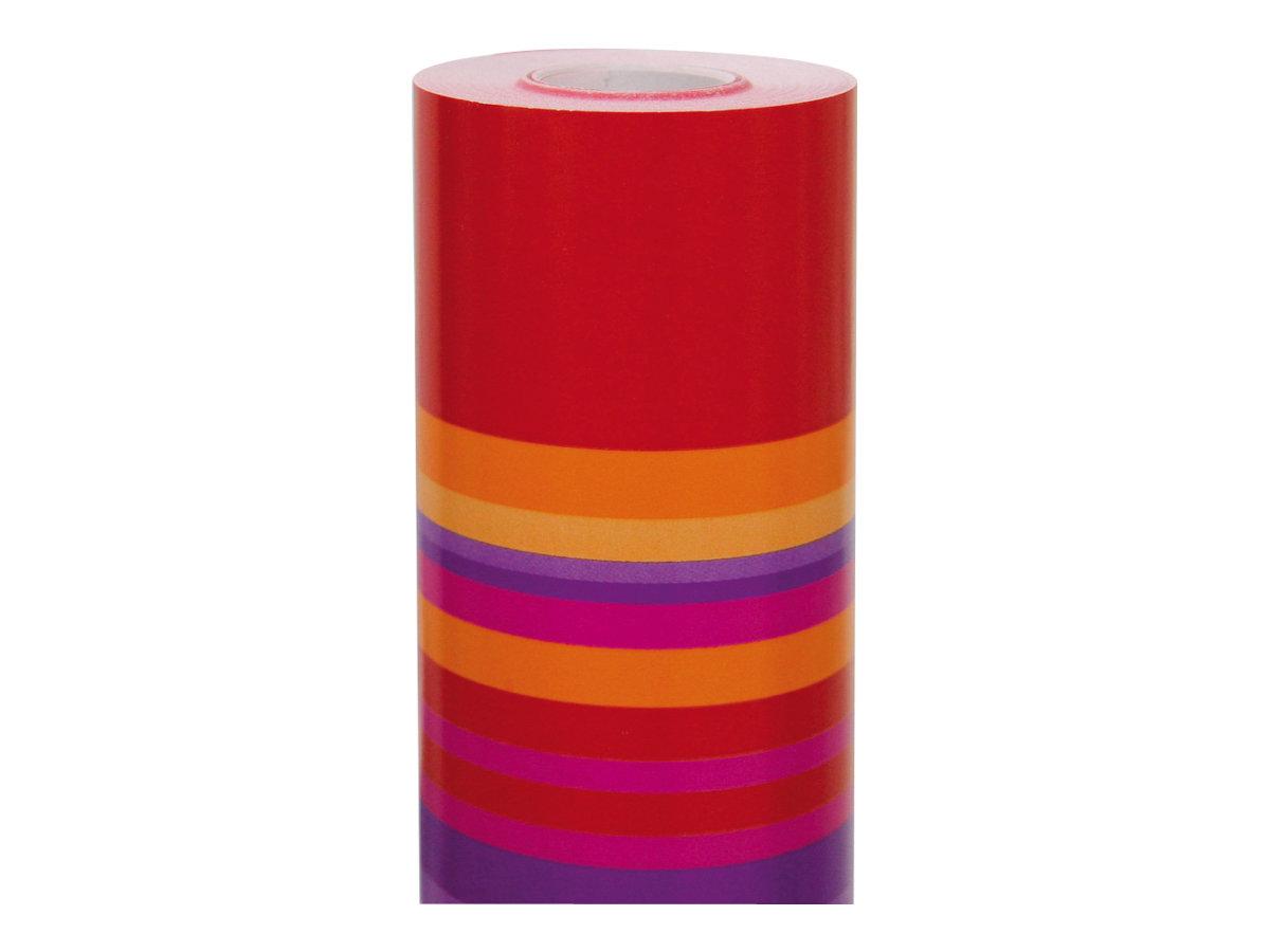 Clairefontaine Alliance - Papier cadeau - 70 cm x 50 m - 60 g/m² - rayures or/rose/rouge