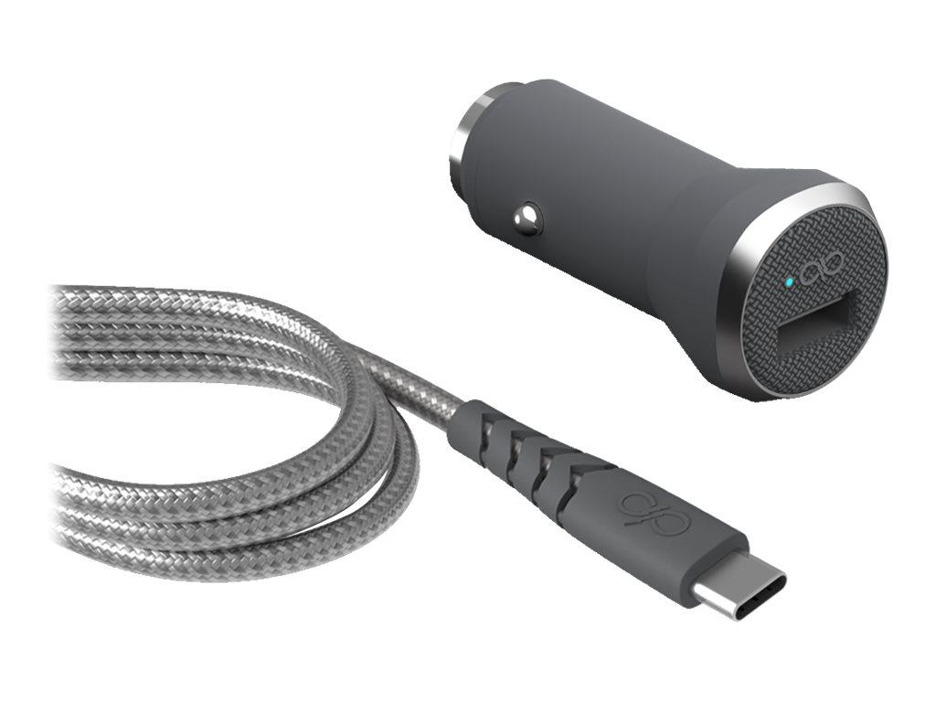 BigBen Force Power - chargeur allume-cigare pour smartphone - 1 USB + 1 câble USB-C/USB-C