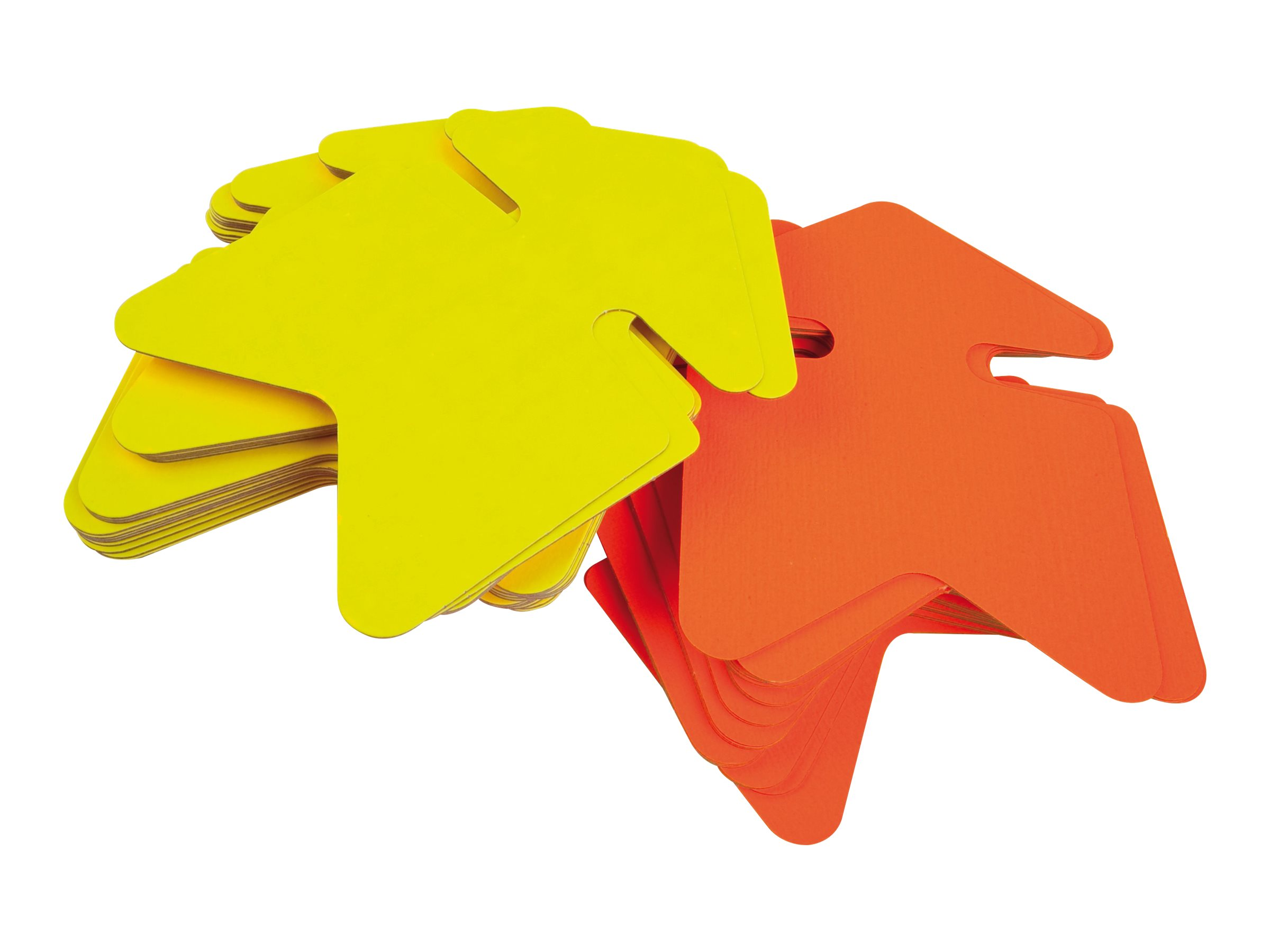 Apli Agipa - 25 flèches fluo non effaçables - jaune/orange - 24 x 32 cm
