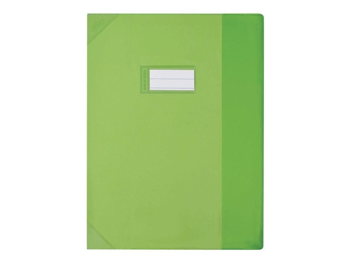 Oxford Strong Line - Protège cahier sans rabat - 24 x 32 cm - vert translucide