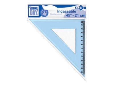 JPC  équerre 24 cm 45° plastique incassable