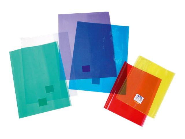 Calligraphe - Protège cahier sans rabat - A4 (21x29,7 cm) - cristalux - rouge transparent