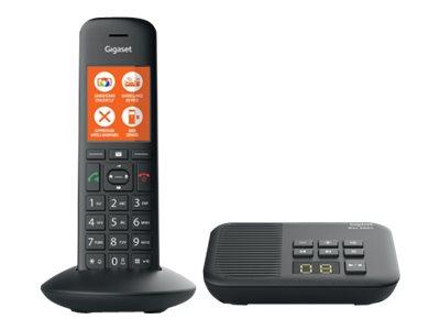 Gigaset C570A - téléphone sans fil - avec répondeur - noir